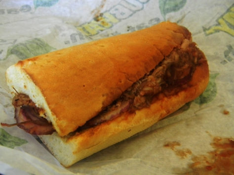 Subway.  Not so fresh.
