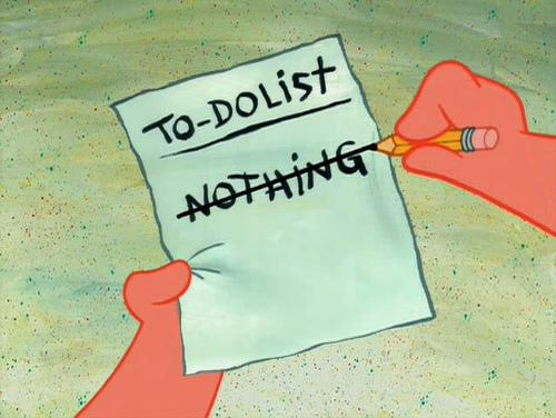 I have an ambitious list today.