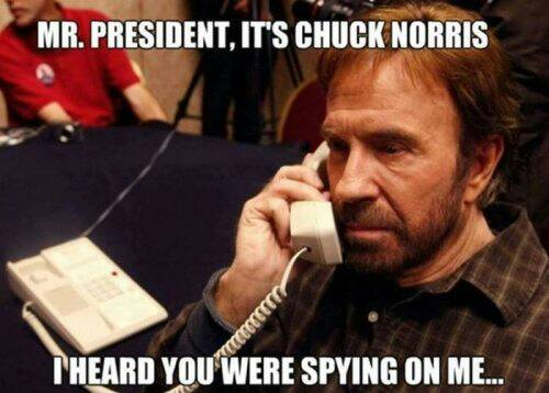 Chuck Norris threatening to punch the curviture of the earth.