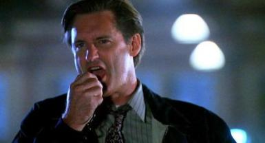 Bill Pullman starting Independence Day.