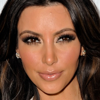 The only reason Zombie Kim Kardashian looks like this? Lots of non Zombie makeup.