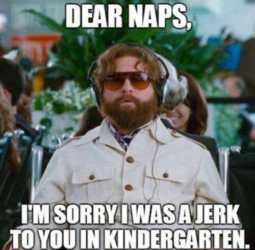 Naps, please take me back.  I promise I will ignore other people and responsibilities from now on.