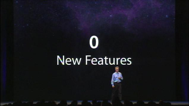 Absolutely zero new features that you will care about.
