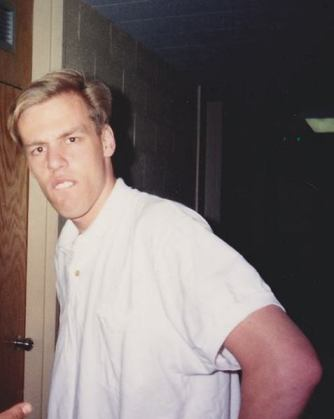 Picture of me in college.  Neck, face and belly have changed, but the expression is the same, classic Bitter.