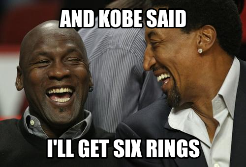 Only six rings?  Jordan played 15 seasons.  That means his teams failed 9 years.  How is that a success?