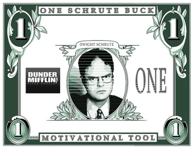 I would pay a million Schrute Bucks or 5 million Stanley nickels to find out if Dwight ever became Assistant Regional Manager.