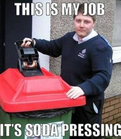 Soda pressing indeed.