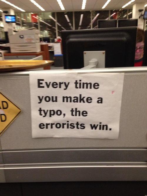 The errorists always win.