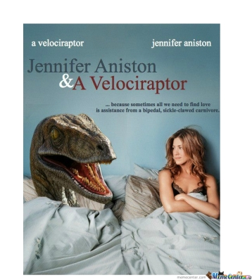 The velociraptor was so good in this movie.  He acted like he actually liked her.