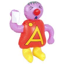This is how you learn about the alphabet.  This is Annoying Albert, I think.  Next was Bitter Ben.