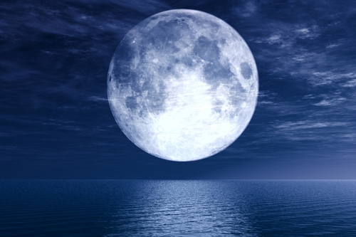 "What the experts ""claim"" the moon would look like."
