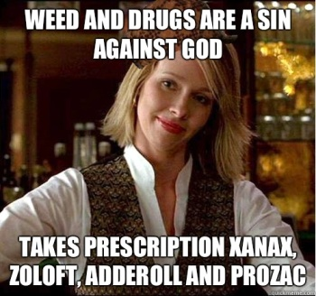 Prescription drugs are fine.