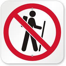 no hiking