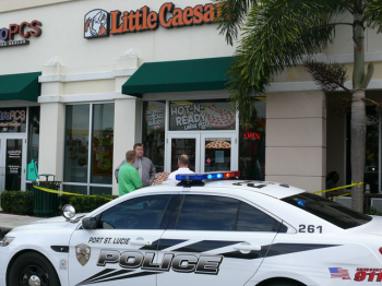 No, not a stabbing at Little Caesars...