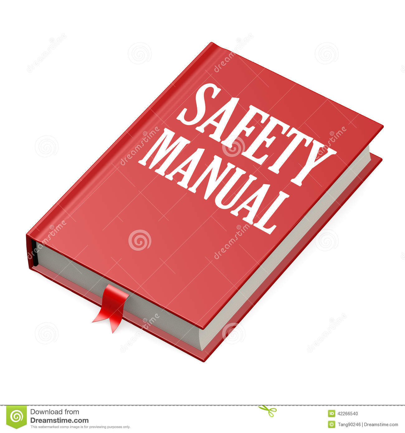 Isolated Red Book Safety Manual  Image Hi Res Rendered Artwork Could Be Used Any Graphic Design 42266540
