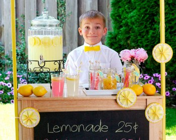 Did you get fired by your partner at the lemonade stand? Not as sweet a job as you were expecting?