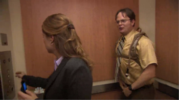 Somehow Dwight makes it out of this impossible corner.