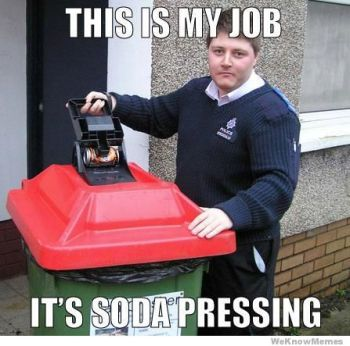 This is soda pressing.